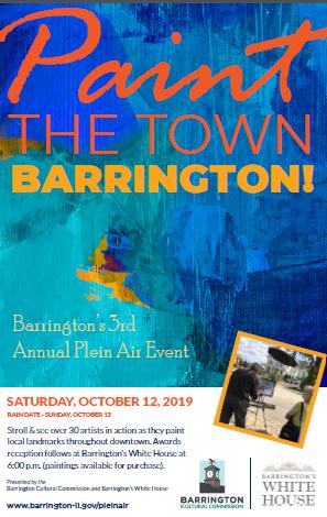 Paint the Town Barrington 2019 Poster