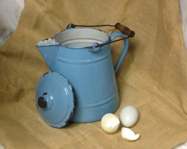 Blue Pitcher and Eggs