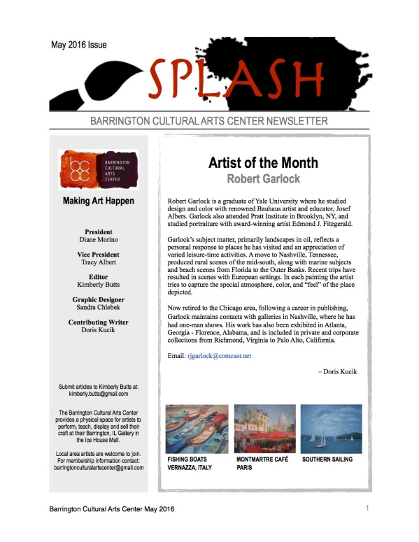 Splash - BCAC May Newsletter