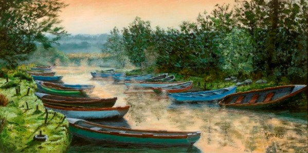 Marrazzo_Morning Mist at Ross Castle 12x24 700